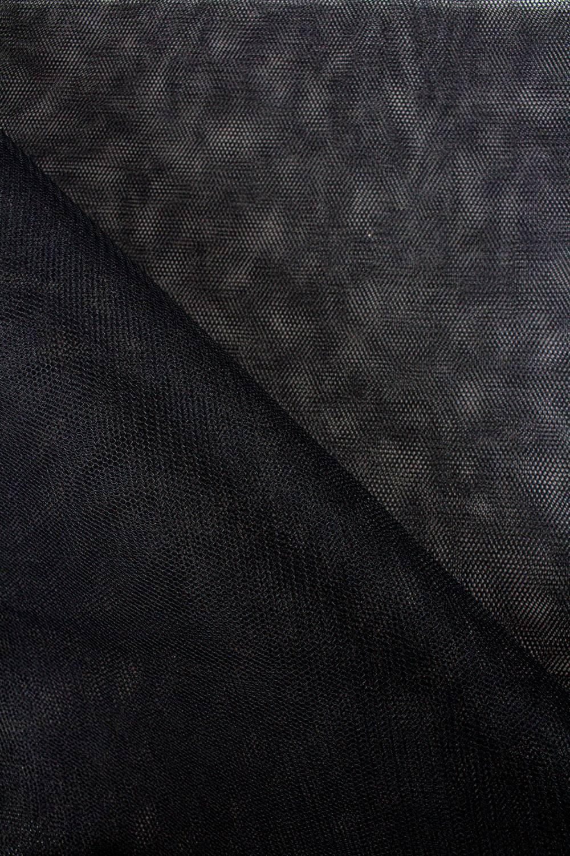 Tkanina tiulowa sztywna - czarny - 160cm 30g/m2