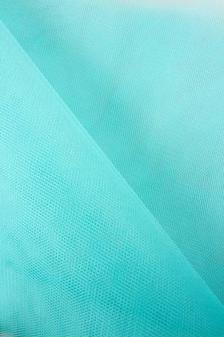 Fabric - Tulle - Rigid - Turquoise - 160 cm - 30 g/m2 thumbnail