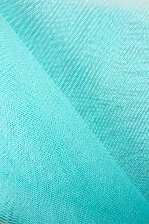Tkanina tiulowa sztywna - turkus - 160cm 30g/m2