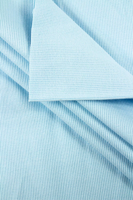 Dzianina ściągacz prążkowany błękitny - 50cm (100cm) 320g/m2