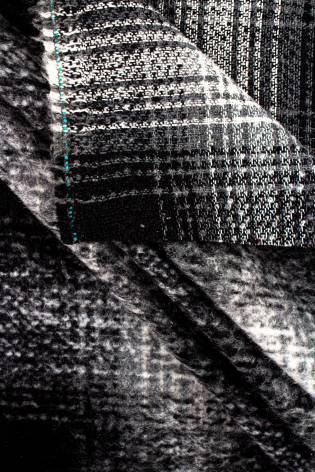 Fabric - Duffle Fleece/Mohair - Checkered - 150 cm - 380 g/m2 thumbnail