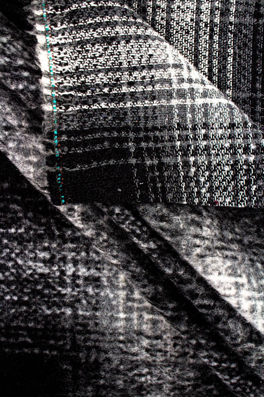 Fabric - Duffle Fleece/Mohair - Checkered - 150 cm - 380 g/m2