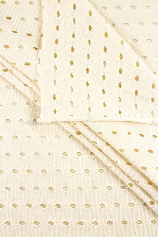 Knit - Jersey - Perforated - Ecru - 170 cm - 200 g/m2
