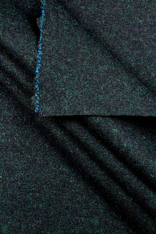 Fabric - Duffle Fleece - Bottle Green Melange - 150 cm - 400 g/m2