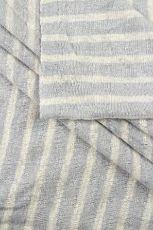Knit - Sweater Type - Grey & White Stripes - 155 cm - 170 g/m2 thumbnail