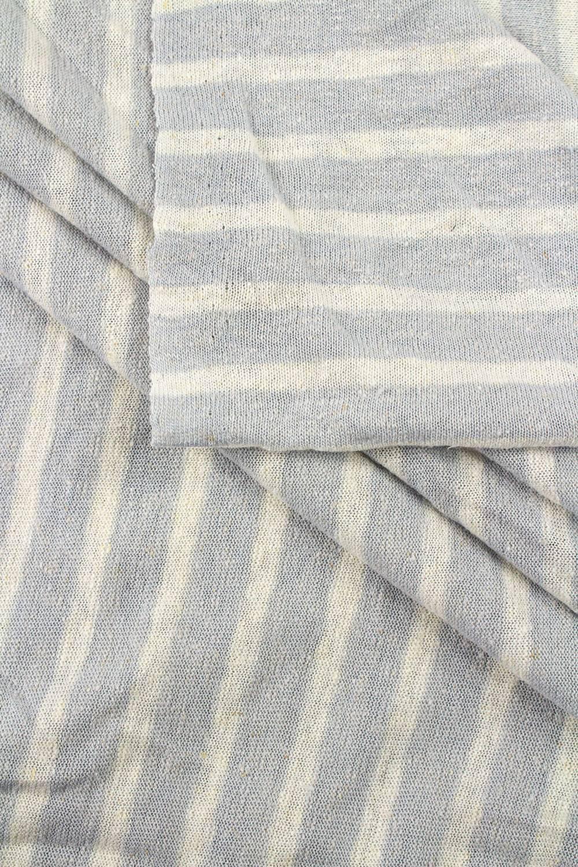 Knit - Sweater Type - Grey & White Stripes - 155 cm - 170 g/m2