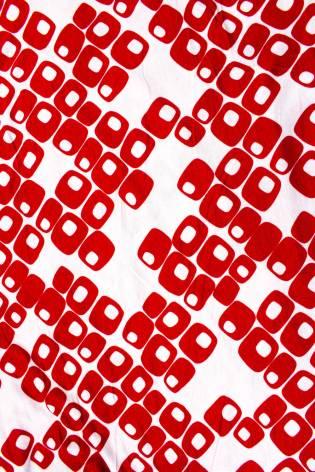 Dzianina jersey-rayon - biały w czerwony wzorek -  150cm 200g/m2 thumbnail