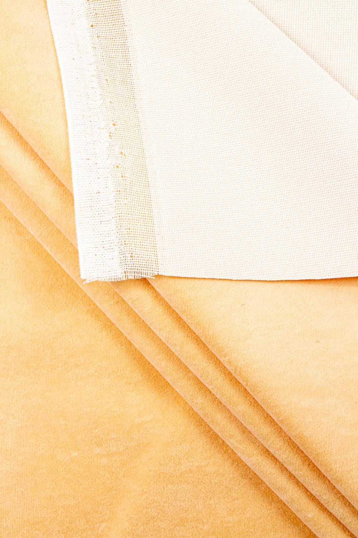 Welur tapicerski - brzoskwiniowy - 150cm 300g/m2