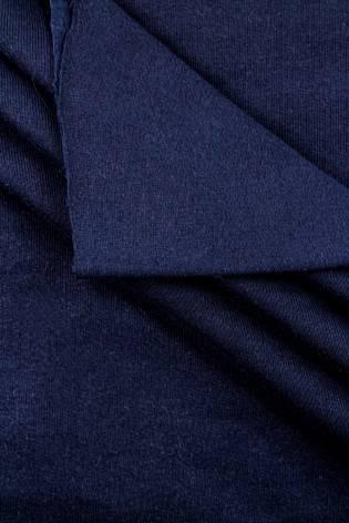 Dzianina dresowa drapana w rękawie - granatowa - 95cm/190cm 335g/m2 thumbnail