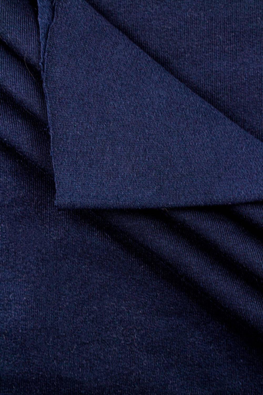 Dzianina dresowa drapana w rękawie - granatowa - 95cm/190cm 335g/m2