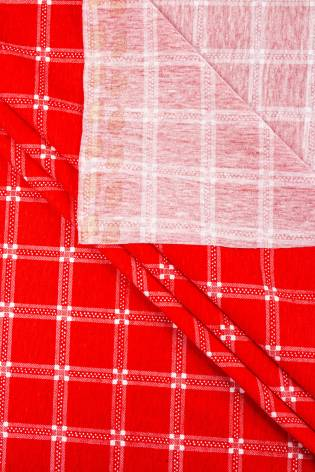 Knit - Jersey - Red With White Check  - 165 cm - 150 g/m2 thumbnail