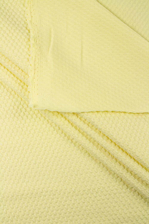 Dzianina strukturalna z brokatem - żółty - 150cm 180g/m2