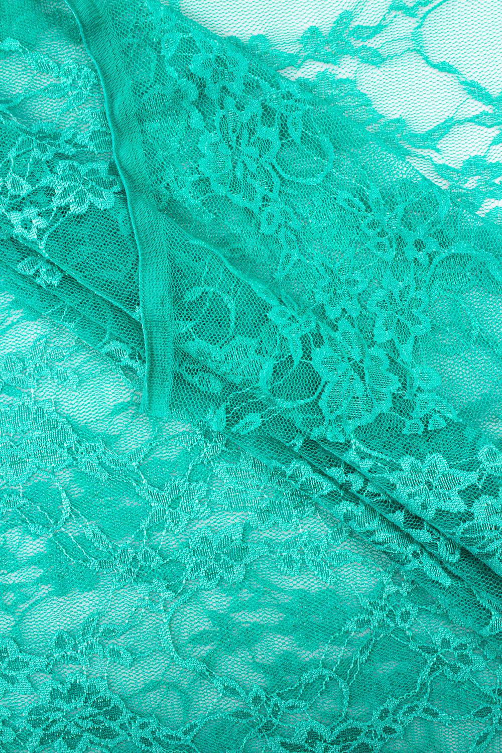 Fabric - Lace - Turquoise - 140 cm - 70 gm/2