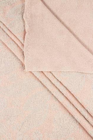 Dzianina sweterkowa ze srebrną nitką - różowy - 150cm 210g/m2 - 1