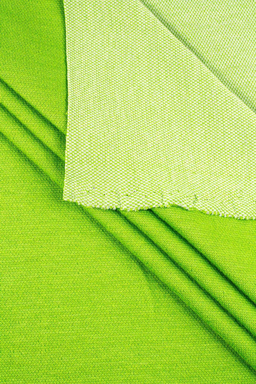 Dzianina żakardowa - zielone jabłuszko - 140cm 285g/m2