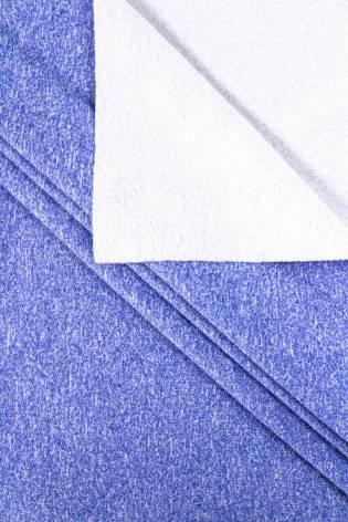 Dzianina dresowa sportowa - niebieski melanż - 175cm 260g/m2 thumbnail