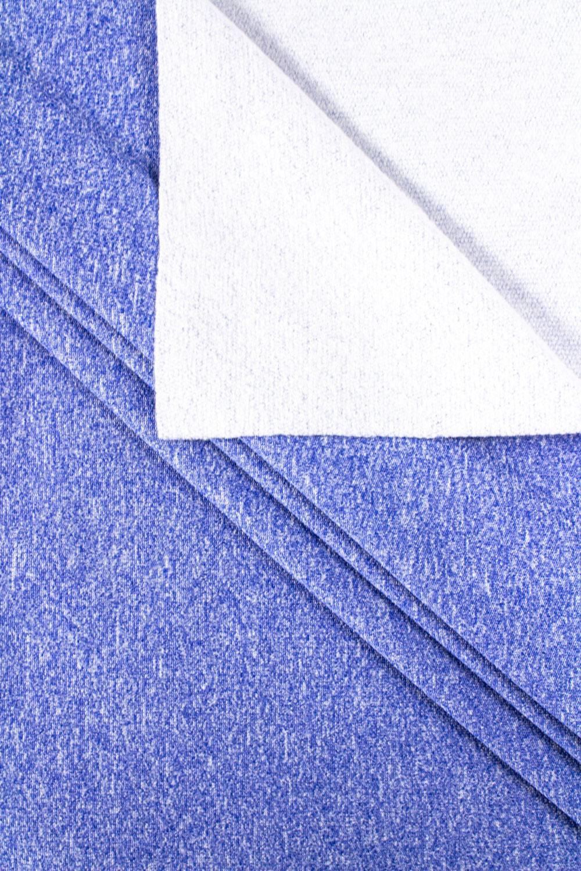 Dzianina dresowa sportowa - niebieski melanż - 175cm 260g/m2