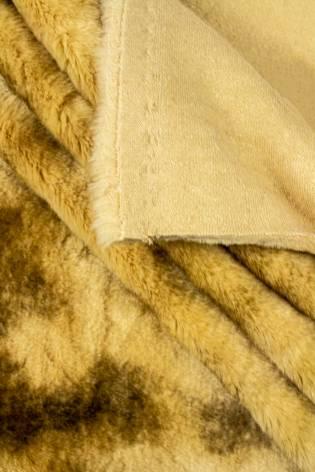 Tkanina futerkowa karmelowa przypalana - 140cm 710g/m2 - 1