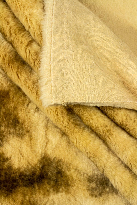 Tkanina futerkowa karmelowa przypalana - 140cm 710g/m2