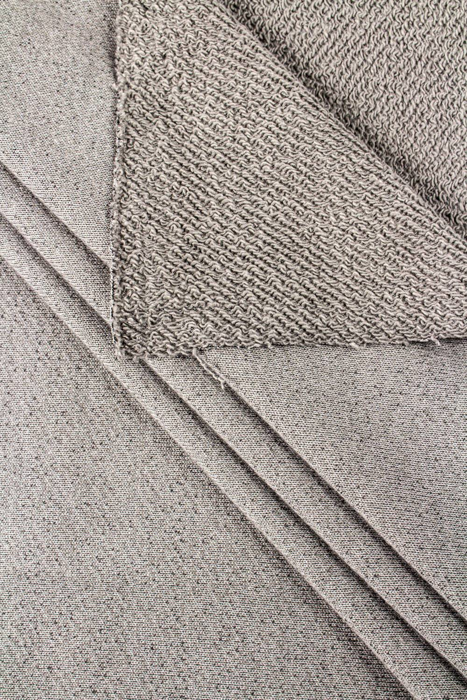 Dzianina dresowa pętelka szara - silikonowana - 145cm 250g/m2