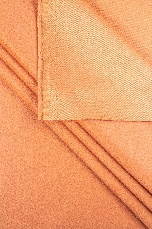 Flausz wełniany - alpaka - brzoskwiniowy - 150cm 450g/m2