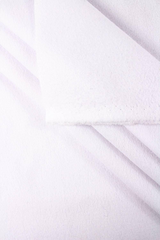 Dzianina polarowa biały - 155cm 255g/m2