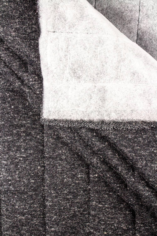 Dzianina pikowana grafitowy melanż - 160cm 350g/m2