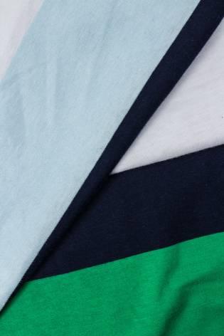 Knit - Jersey - Colourful Stripes (Light Blue, Navy Blue, White, Green) - 150 cm - 180 g/m2 thumbnail
