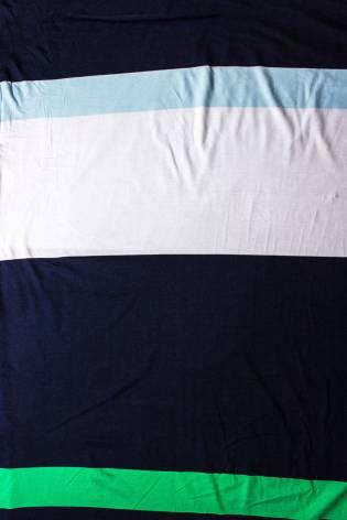 Dzianina jersey - pasy granat/biały/błękit/zieleń - 150cm 180g/m2 thumbnail