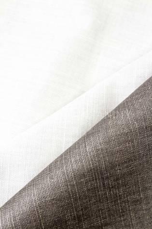 Tkanina lniana fantazyjna - błyszczący brąz - 145cm 275g/m2 thumbnail