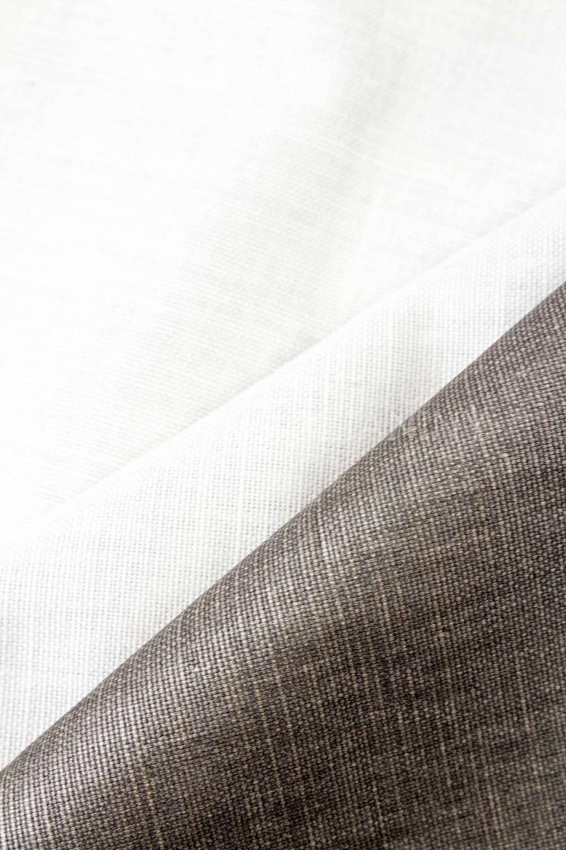 Tkanina lniana fantazyjna - błyszczący brąz - 145cm 275g/m2