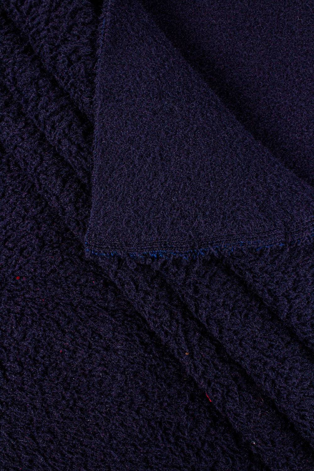 Knit - Fleece - Thick - Navy Blue - 145 cm - 400 g/m2