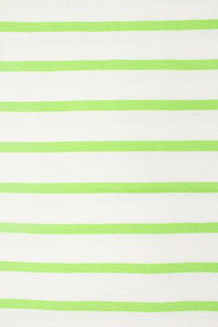 Dzianina dresowa wiskozowa biała w zielone paski - 175cm  230g/m2 d thumbnail