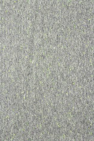 Dzianina dresowa pętelka ze splotem diagonalnym szary melanż z zielonym 250g/m2 185cm thumbnail