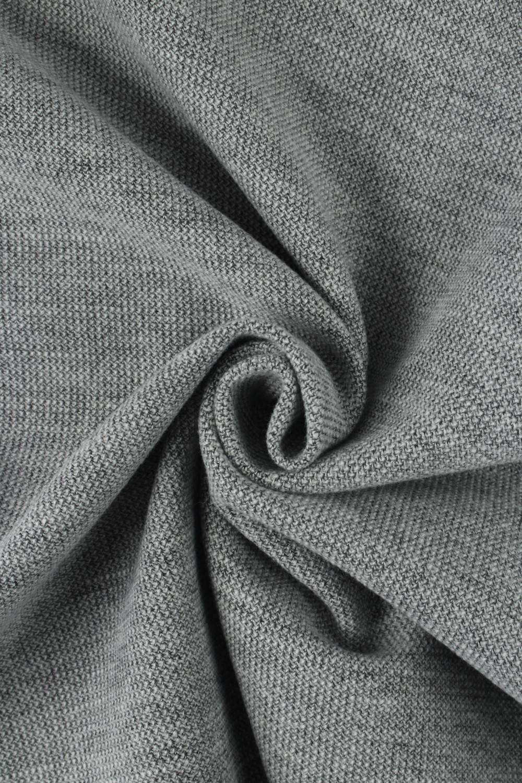 Fabric - Duffle Fleece - Grey Melange - 4 rm (Pre-cut)