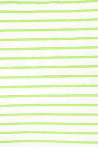 Knit - Sweatshirt Viscose - White & Green Stripes - 175 cm - 230 g/m2 thumbnail