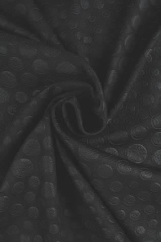Knit - Embossed - Black - 6 rm (Pre-cut) thumbnail