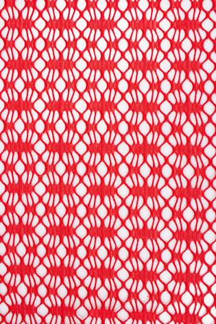Koronka bawełniana - czerwona - 175cm 100g/m2 thumbnail