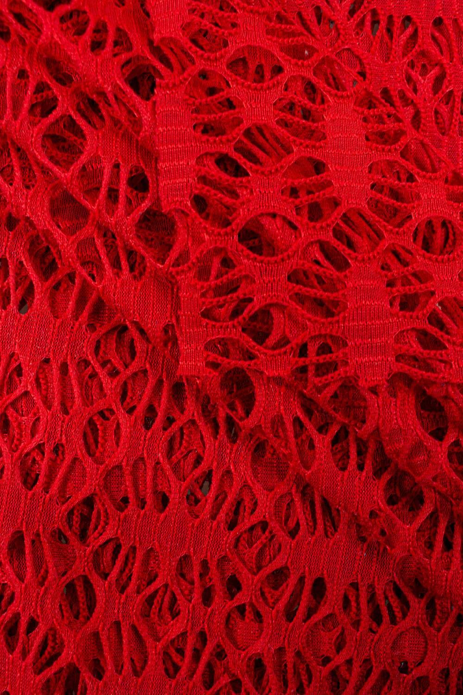 Koronka bawełniana - czerwona - 175cm 100g/m2