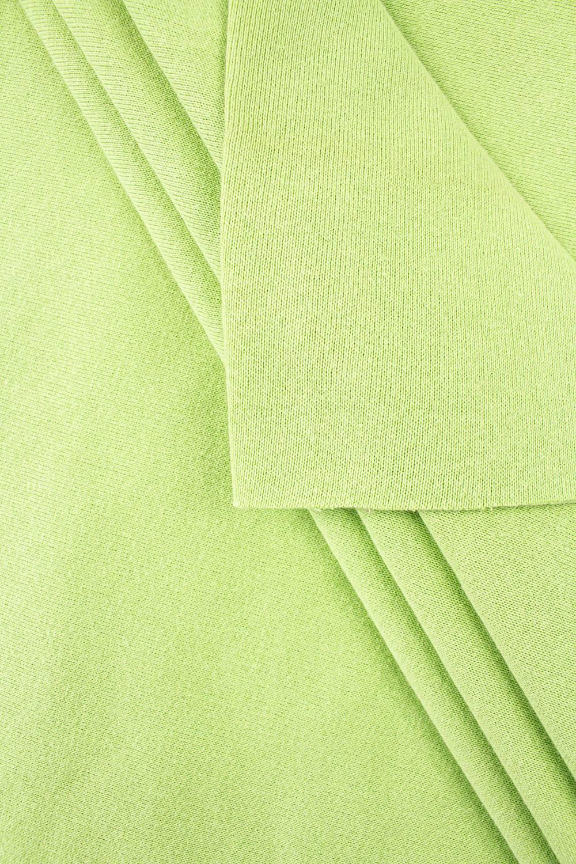 Dzianina dresowa drapana w rękawie - zielona - 100cm/200cm 260g/m2