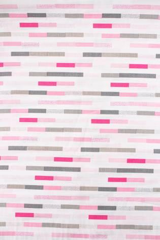 Tkanina bawełniana biała z nadrukiem - paski - 165cm 120g/m2 thumbnail