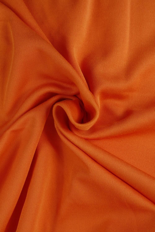 Dzianina interlock pomarańczowa KUPON 2MB