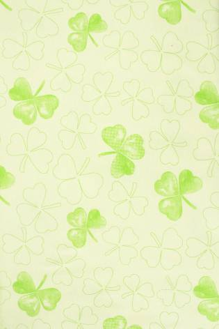 Knit - Jersey - Light Green With Shamrock Pattern - 175 cm - 170 g/m2 thumbnail