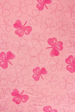 Knit - Jersey - Coral With Shamrock Pattern - 175 cm - 170 g/m2 thumbnail