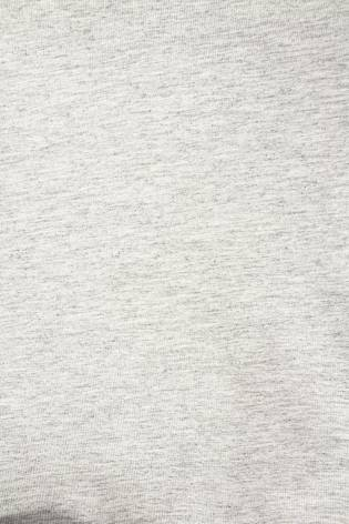 Dzianina dresowa pętelka szary melanż z czarną pętelką - 180cm 300g/m2 thumbnail