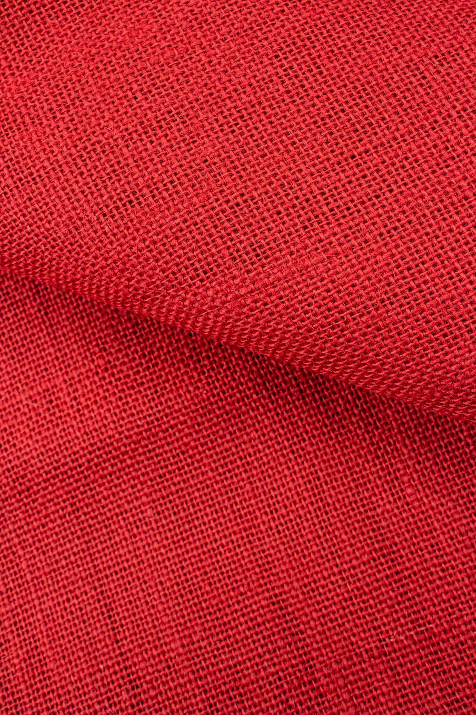 Tkanina jutowa - czerwony - 130cm 280g/m2