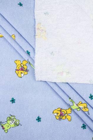 Dzianina dresowa drapana dziecięca niebieski - 150cm 180g/m2 thumbnail