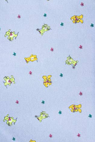 Knit - Sweatshirt Fleece - Blue - Teddy Pattern - 150 cm - 180 g/m2 thumbnail