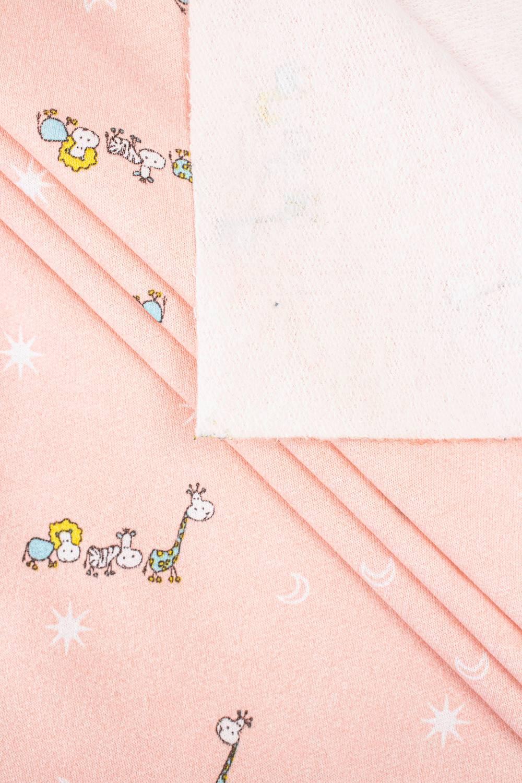 Knit - Sweatshirt Fleece - Pink - Animals - 150 cm - 180 g/m2