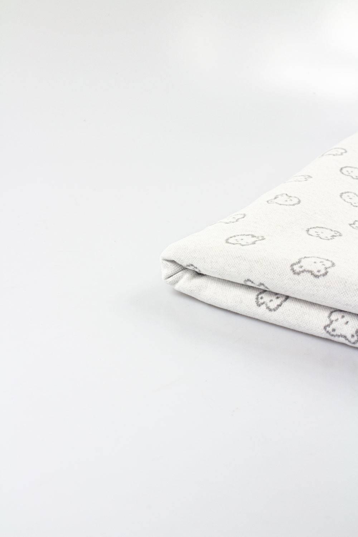 Knit - Sweatshirt Jacquard - Grey Teddy - 135 cm - 250 g/m2